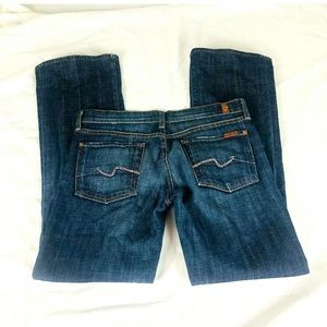 7 for all mankind women's jeans boot cut size 28